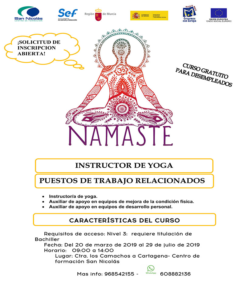 CARTEL INSTRUCTOR DE YOGA