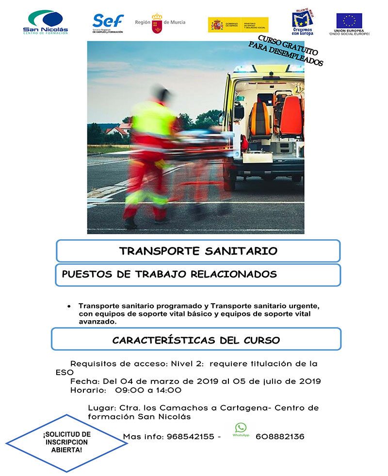 CARTEL TRANSPORTE SANITARIO
